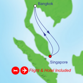 Fly Stay Cruise Asia with overnight in Bangkok Itinerary