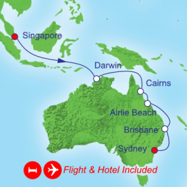 Fly Stay Holiday Singapore to Sydney Royal Caribbean Cruise