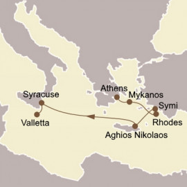 Greek Isles and Maltese Magic Itinerary