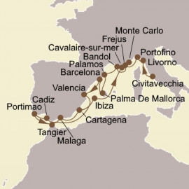 Italian Gems and Spain Seabourn Cruise