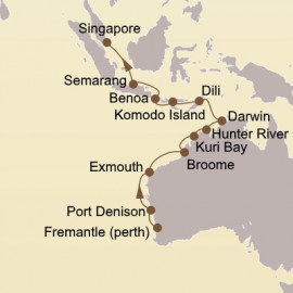Perth to Singapore Seabourn Cruise