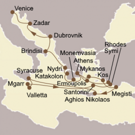 Aegean and Adriatic Odyssey Itinerary