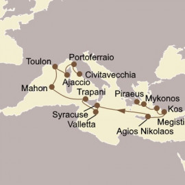 Greek and Italian Isles Odyssey Itinerary