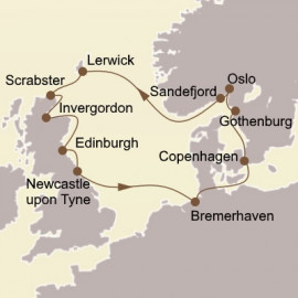 Norway the British Isles and Edinburgh Itinerary