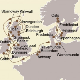 Northern Gems and British Isles Itinerary