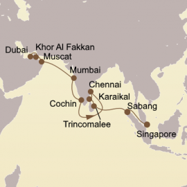 Pearls Of Arabia and India Itinerary