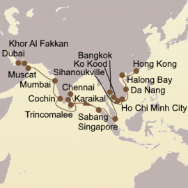 Holiday Arabia and Asia Itinerary