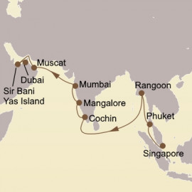 Myanmar India and Arabia Itinerary