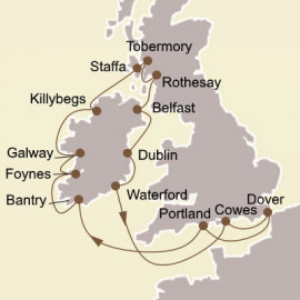 Gems of the Irish Sea and Hebrides Itinerary