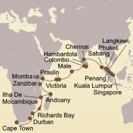 Cape Town to Singapore Itinerary
