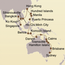 Asian Arc and Australia Itinerary