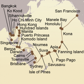 Asia Australia and Pacific Paradise Itinerary