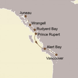 Alaska Fjords and Canadian Inside Passage Itinerary
