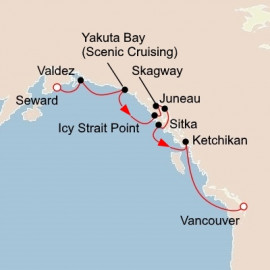 Alaska and the Inside Passage Itinerary