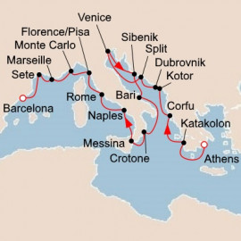 Mediterranean and Adriatic Sojourn Viking Ocean Cruises Cruise