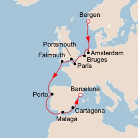 Trade Routes of the Middle Ages Itinerary