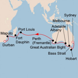 Southern Australia to South Africa Itinerary