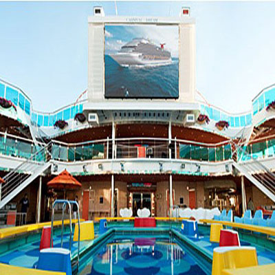 Movie theater on carnival miracle ship