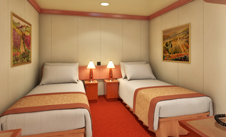 Interior stateroom for Miracle magic bathroom