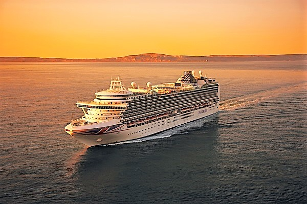 P&O Cruises UK Azura new zealand Across NZ