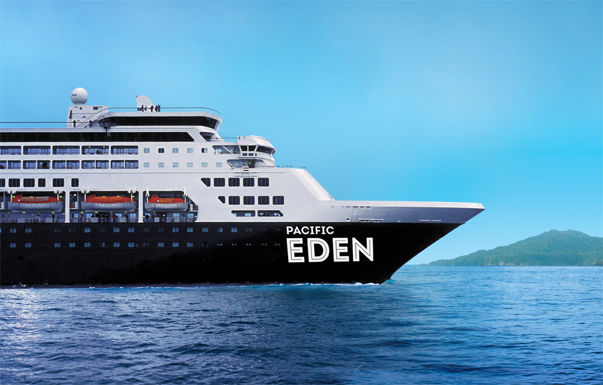 P&O Cruises P&O - Pacific Eden new zealand Across NZ