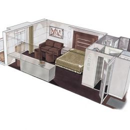 Deluxe Suite floorplan