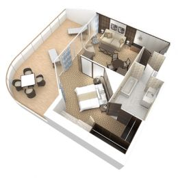 Club World Owner's Suite floorplan