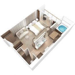 Club Spa Suite floorplan