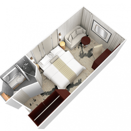 Club Oceanview Stateroom Layout