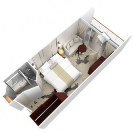 Club Veranda Stateroom Layout