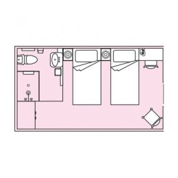 Layout of stateroom