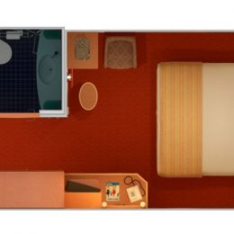 Quad Interior Stateroom Layout