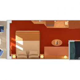 Guaranteed Balcony Stateroom Layout