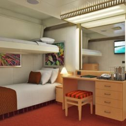 Interior Stateroom with Bunk Bed