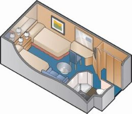 Intertior Stateroom Floor Plan