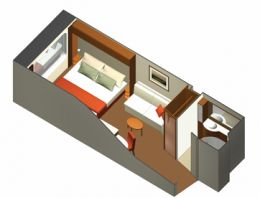 Ocean View Stateroom Layout