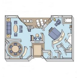 Layout of Crystal Penthouse Suite