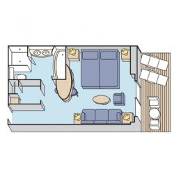 Layout of Penthouse Stateroom Verandah