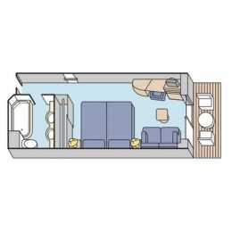 Layout of Deluxe Stateroom Verandah