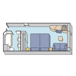 Layout of Deluxe Stateroom Oceanview