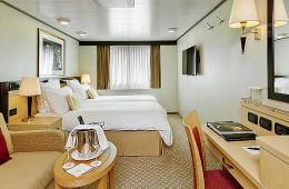 Britannia Obstructed Oceanview Stateroom