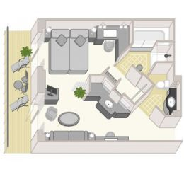 Queens Grill suite Layout