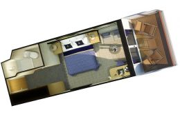 Britannia Club Balcony Stateroom Layout