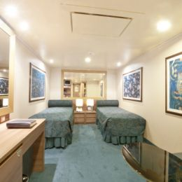 Inside Twin Cabin with Single Beds