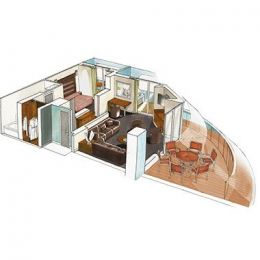 MSC Yacht Club Royal Suite floorplan