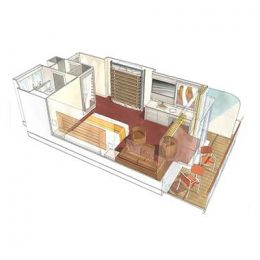 Yacht Club Wellness Deluxe Suite floorplan