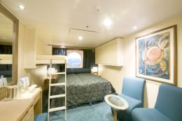 Ocean View Triple Cabin with Queen Bed