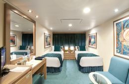 Ocean View Twin Cabin with Single Beds