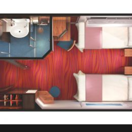Oceanview Picture Window Stateroom Layout