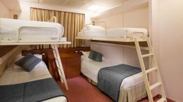 Inside Cabin - Quad Bunk Beds